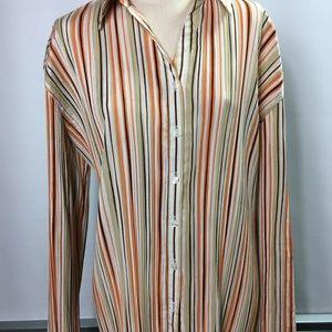 Midland Woman striped shirt size 2X